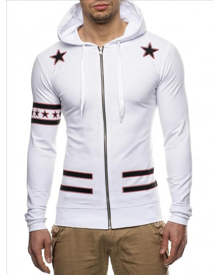 Sweat slim homme blanc pas cher fashion
