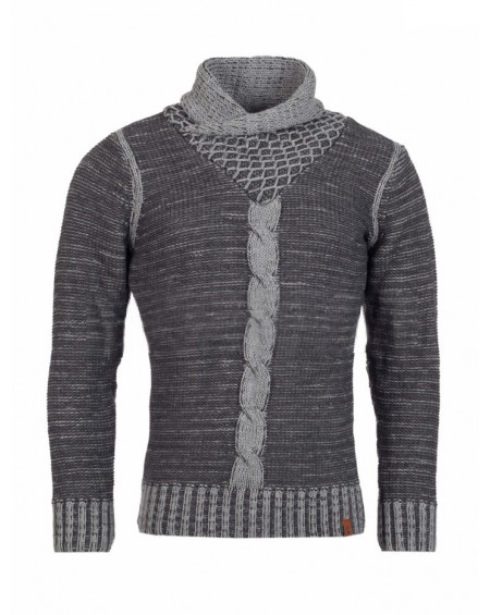 Pull laine homme gris hiver tendance