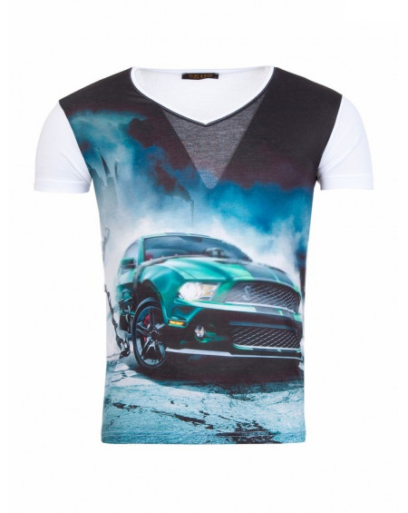 t-shirt homme imprimé blanc design fashion
