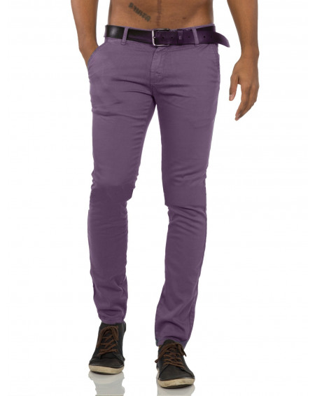 Pantalon chino homme violet pas cher fashion