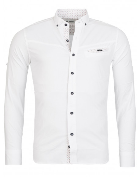 b732be48a3779 Chemise manche longue homme blanche slim fit