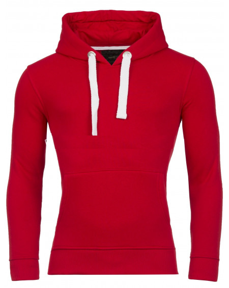 Sweat uni homme rouge simple a la mode