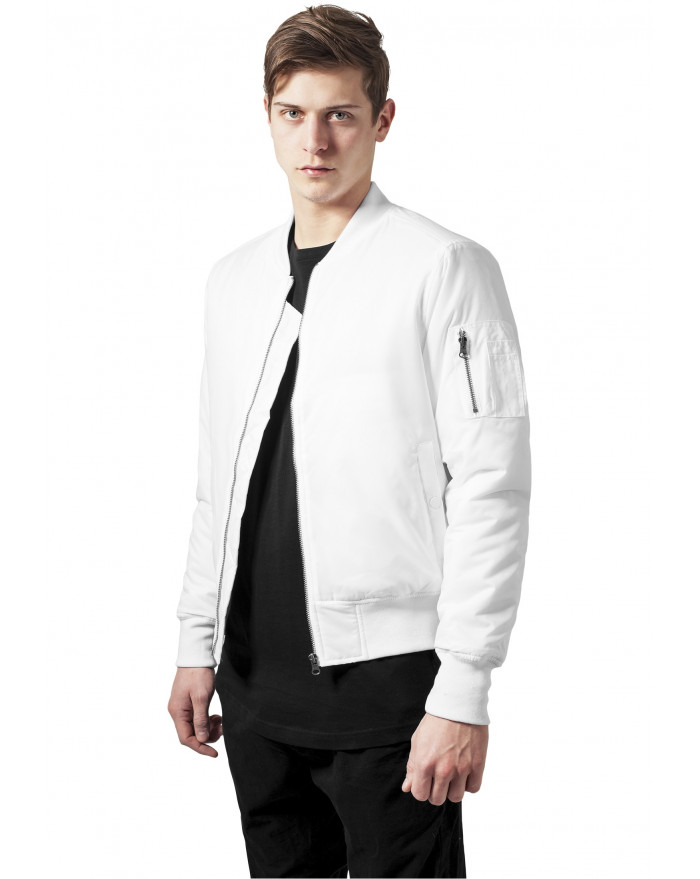 blouson bomber homme blanc chaud. Black Bedroom Furniture Sets. Home Design Ideas