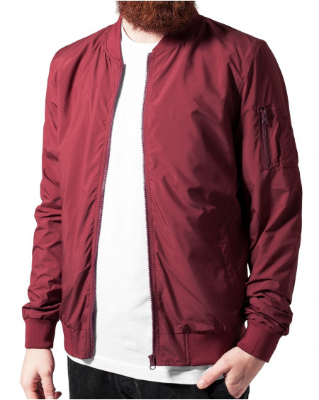 Veste bombers homme rouge fine fashion