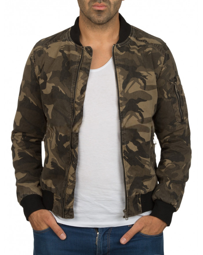 blouson bombers militaire homme kaki hiver. Black Bedroom Furniture Sets. Home Design Ideas