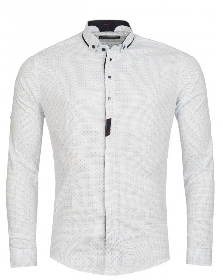 Chemise italienne homme blanche slim fit originale