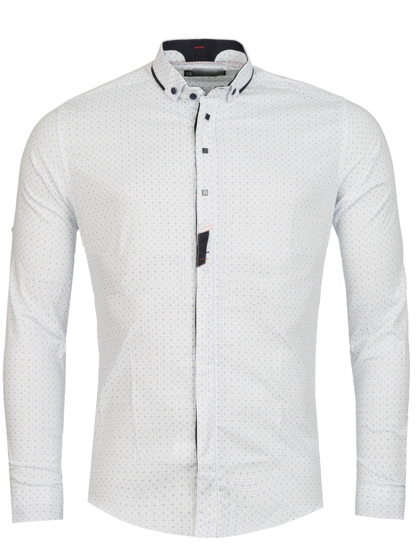 Slim Fit Chemise Homme Blanche Italienne 78xwgft
