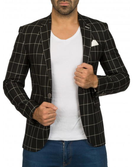 Veste costume homme noire slim fit originale