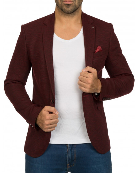 Veste costume homme rouge pas chere fashion