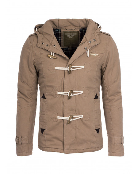 manteau hiver homme beige slim fit fashion
