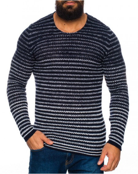 Pull rayure homme marine bicolore fashion