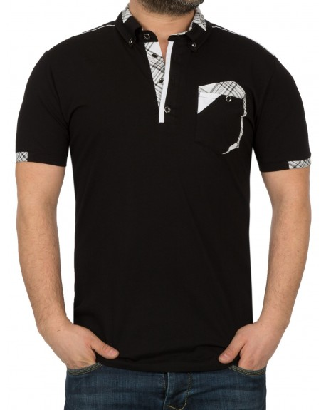 Polo original homme noir slim fit fashion