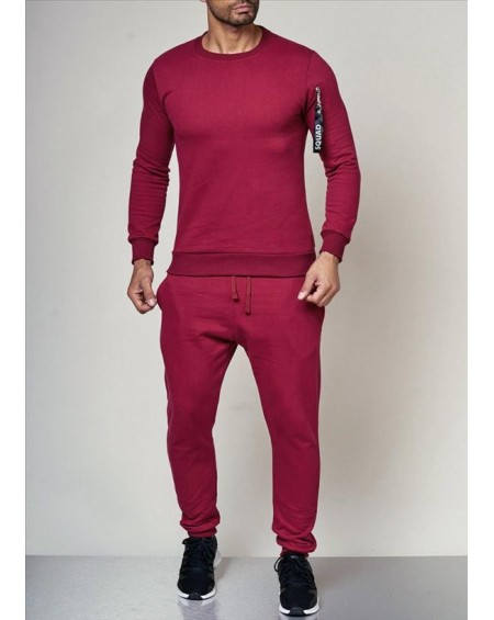 Ensemble jogging homme rouge slim pas cher fashion