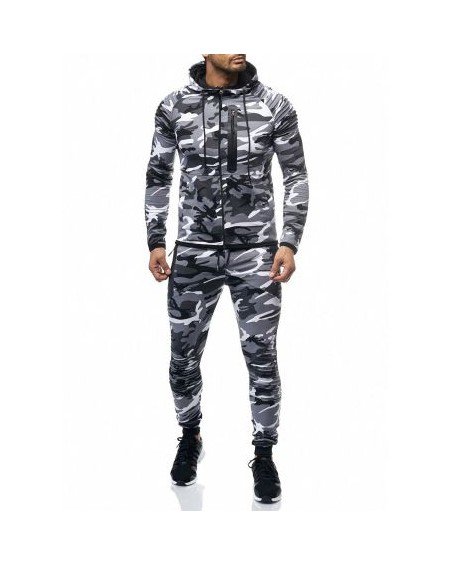 Ensemble jogging homme blanc sport a la mode