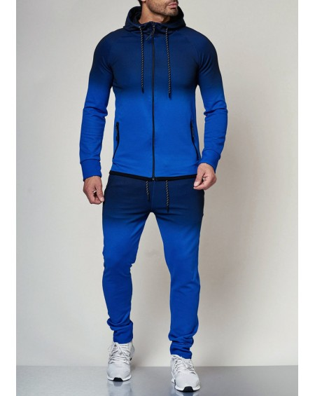 Ensemble survetement homme bleu dégradé fashion
