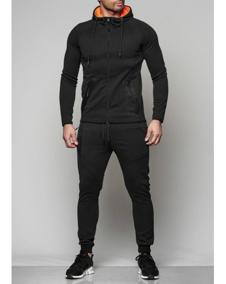 Ensemble jogging homme noir cintré fashion