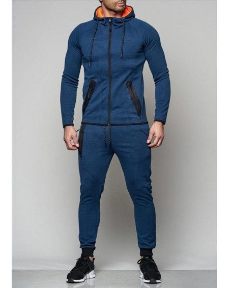 Ensemble jogging homme marine slim fit tendance