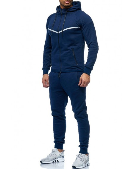 Survêtement fashion homme marine moulant classe