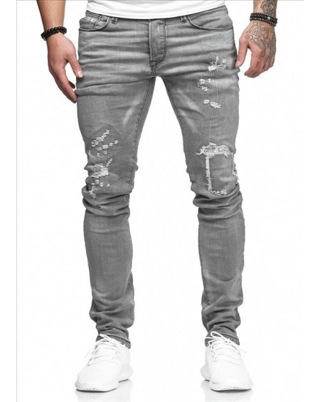 Jeans original homme gris slim mode