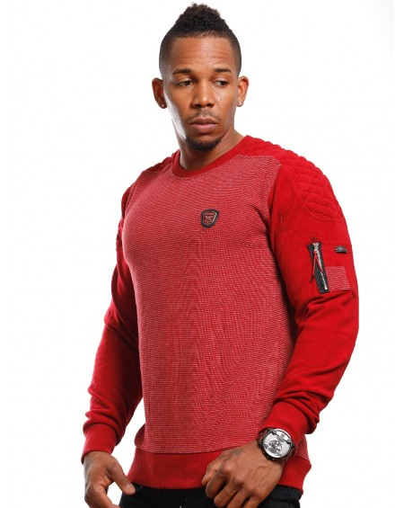 Pull urbain homme rouge style bombers fashion