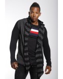 Gilet long homme noir original fashion